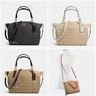New Coach F58283 F36625 Small Kelsey Satchel In Signature Jacquard Fabric Nwt