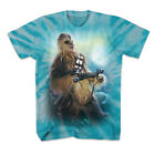 Star Wars Blue Sky Chewbacca Tie Dyed Adult T-shirt