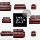 DERRY Antiqued Oxblood Red 3 + 2 + 1 Ultra-Durable Leathaire Recliner Sofas