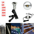1/6/10/20/30/50Pcs Half Moon Outdoor Yard Path Fence LED Deck Step Stair Lights