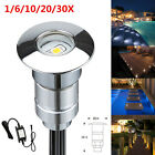 1/6/10/20/30Pcs12V Outdoor Stairs Yard Patio Path LED Inground Deck Step Lights