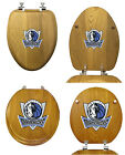 FC380 NBA LOGO TEAM THEME OAK FINISH WOOD ROUND ELONGATED TOILET SEAT COVER LID