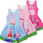"""New girl princess Party"""" Peppa Pig"""" printed dress kids clothes size 3-8yrs"""
