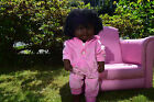 "LARGE 19"" AMERICAN BLACK AFRICAN DOLL BABY BRITTNEY GIRLS DOLL 48CM AFRO DOLL"