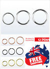 925 Sterling Silver Seamless Hoop Ring 22g 20g 18g 16g Nose Ear Lip Piercing 1pc