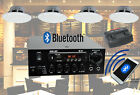 Cafe Restaurant Bluetooth Amplifier Ceiling Speaker System Kit Choose 2,4,8 NEW