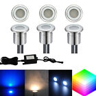 6pcs 12V Stainless Steel Outdoor Path Yard LED Recessed Stair Deck Rail Lights