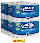 Quilted Northern Ultra Soft and Strong Double Bath Toilet Tissue 48 OR 96 Rolls