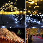 10-50M LED Solar Power Fairy Lights String Garden Outdoor Party Wedding Event