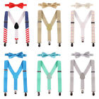 Внешний вид - Boy Bow Ties Suspenders Birthday Outfit for Baby Toddler Kids Boys Wedding Party