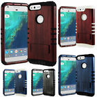 BRUSHED Wood HARD SOFT Hybrid Impact Armor Cover Case For Cell Phones Black/GLOW