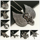 Unisex's Men's Bible Stainless Steel Pendant Wolf Dragon totem Necklace Chain