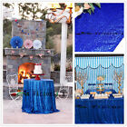 Royal Blue Sequin Table Tablecloths for Wedding/Event/Party, Home Garden Table