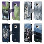 OFFICIAL ANNE STOKES WOLVES LEATHER BOOK WALLET CASE COVER FOR SAMSUNG PHONES 1