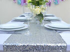 Wholesale Luxury Silver Sequin Table Runners for Wedding Table,Choose Sizes