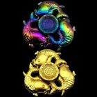 Fidget Spinner Oriental Coy Multicolour Metallic EDC Anti Stress Ultimate Spin