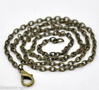 "Wholesale Lots Gift Bronze Tone Lobster Clasp Link Chain Necklaces 18"" B12720"