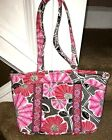 Vera Bradley Cherry Blossom Tote Bag Purse PInk Red  Floral