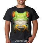 Tree Frog T Shirt Big Frog Face Toad Jump Green Mountain Men's Tee