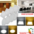 3/6/12/18/24W Slim LED Recessed Ceiling Board Down Light Room Decor UK Stocking