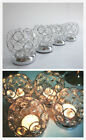 Bling Bling Clear Crystal Silver Candle Holders Wedding Party Centerpieces Table