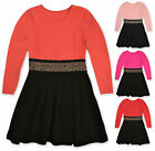 Girls Beaded Party Dress Kids Skater Dresses New Age 2 3 4 5 6 7 8 9 10 Years