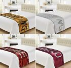 2 TONE MERMAID SEQUIN BED SOFA THROW RUNNER 65cm X 200cm BLACK GOLD WHITE RED