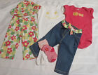 GYMBOREE Baby Girls 6-12 Month Spring Smiles Jeans Bodysuit Outfit NWT