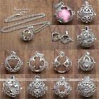 1pc Eco-friendly Ball Bead Open Cage Pendant Women Necklace Jewelry