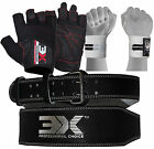 """Weight Lifting Gym Belt Gym Gloves Strap Back Power Fitness Workout 4"""" 3X Sports"""