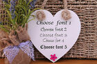 Mother Grandma shabby chic personalised handmade heart plaque sign gift present