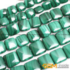 """Natural Malachite Gemstone Square Beads For Jewelry Making 15"""" 8mm 10mm 12mm"""