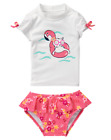 NWT Gymboree Girls Swim Swimsuit 2pc White Pink Kitty Rashguard FREE US SHIP NEW