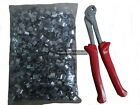 Plier and J aviary clips 1kg set for wire mesh bird cages joining steel chicken