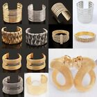 Vintage Women Lots Style Gold Plated Bangle Punk Cuff Bracelet Jewelry Gold Gift