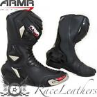 ARMR MOTO HARADA R BLACK WATERPROOF MENS MOTORCYCLE MOTORBIKE SPORTS BIKE BOOTS