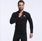 Men 3mm Neoprene Thermal Front Zipper Jacket Warm Diving Surfing Wetsuit Tops