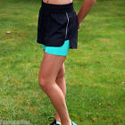 Ladies M&S Active Sports Running Shorts with Undershorts 2-in-1 Cycle Fitness