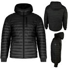 Mens Jacket Brave Soul Hooded Quilted Puffer Padded Winter Warm Coat Long Sleeve