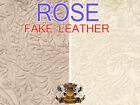 "Vinyl Upholstery Embossed Texture Fabric FOLIAGE ROSE Fake Leather / 54"" Wide"