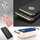 Ultra Thin Slim Hard Case Cover For Apple iPhone 8 6 6S 7 / Plus +Tempered Glass