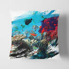 Faux Suede Throw Scatter Cushion Fish Coral Reef V2