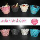 Five Colors Filigree Vine Lace Cupcake Wrappers Wraps Cake Decorating Tools AAC