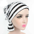 Hot Women Fashion Bouffant Chiffon Skullies & Beanies Hat Sleep Cap Turban Chemo