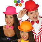 Adults Satin Bowler Hat Clown 1920s 20s Halloween Fancy Dress Costume Accessory