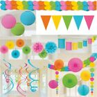 Pastell Deko Set Party bunt Farben Geburtstag Gartenparty Hawaii Babyshower