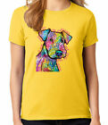 Schnauzer sees past Ladies T-shirt Lovely dog printed Women's Tee - 1774C