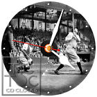 S-949 BABE RUTH HITTING BALL-DESK OR WALL CLOCK-FREE FAST SHIPPING-BUY IT NOW
