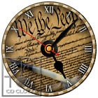 S-918 CD CLOCK-UNITED STATES CONSTITUTION PAPER-DESK OR WALL CLOCK-FREE SHIPPING