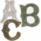 Внешний вид - Alphabet Letter Concho in Choice of Silver, Antique Silver and Antique Copper
